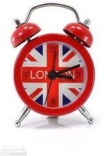 MINI SVEGLIE metallo color Case Bandiera Britannica Rosso 12 mesi di garanzia