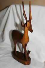 Wooden Carved Antelope  Deer Gazelle  Elephant Kudu 26 cm