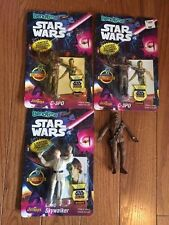 Star Wars Bend-Em's - Set of 4 figures Some new in package C-3PO Luke Chewbacca