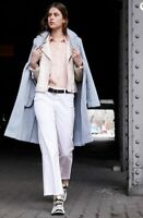 River Island Pale Blue Slim Tailored Trench Smart Work Jacket Coat 8 to 16 New