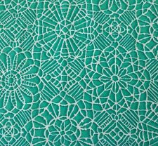 Amazing Lace Studio 8 BTY Quilting Treasure Teal White 100% Cotton Screenprint