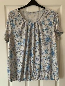 LADIES MULTI FLORAL TOP BLOUSE UK SIZE 22 GREAT CONDITION