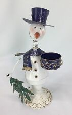 New Creative Enterprises Metal Snowman Candleholder See Photos For Measurements