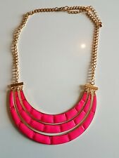 Moda chapado en oro rosa colgante collar de bambú de esmalte