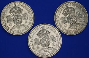 1939 1940 1942 George VI Florins / Two shillings [22032]