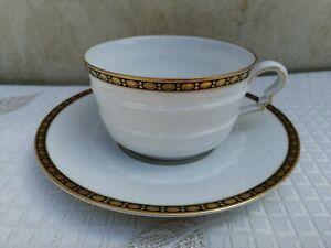 Rosenthal Bavaria Madeleine zweiteiliges Kaffeegedeck Goldrand 361 Art Deco