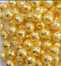 GOLD & SILVER PLATED Metal FILIGREE Round Spacer BEADS  4/6/8/10MM