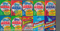 1984 1985 1986 1987 1988 1989 1990 1991 1992 1993 Topps Wax Pack (10) from box