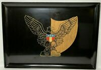 Vintage Mid Century Modern Couroc Serving Tray Bald Eagle With Shield USA