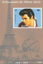 DEATH OF ELVIS PRESLEY 1998 EIFFEL TOWER IMPERFORATED MNH STAMP SHEETLET