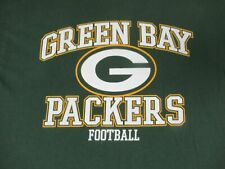 NFL GREEN BAY PACKERS WISCONSIN FOOTBALL - GREEN LARGE T-SHIRT- A832