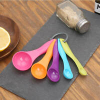 Measuring Spoons Set of 5 Plastic Kitchen Utensil Cooking Baking Tool Teaspoon