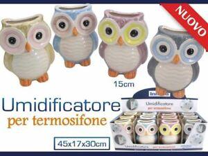 Set 12 Pezzi Umidificatore Per Termosifone In Ceramica Calorifero Gufetti hmj