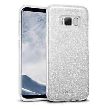 Handy Hülle für Samsung Galaxy S8 Schutz Hülle Silikon Cover Glitzer Slim Case