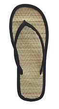 WHOLESALE LOT 48 Prs New Women Bamboo Flip Flop Sandals Big Sizes-1212Black(6-11