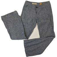 Anthropologie Pilcro And The Letterpress 2 Chambray Wide Leg Pants Linen Blend
