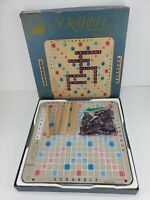 Vintage 1982 Scrabble Deluxe Edition Selchow Righter USA Turntable **READ**