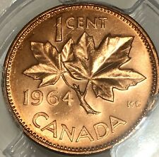1964 Canada, One Cent Coin, *PCGS MS 65 RD*, FULL RED Canadian Vintage