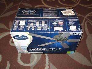 "Harbor Breeze Classic Style 52"" Ceiling Fan (Matte Black) #0154858 *NEW*"