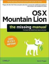 OS X Mountain Lion: The Missing Manual (Missing Manuals), David Pogue, Very Good