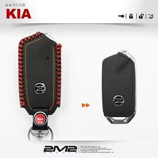 Leather Key fob Holder Case Chain Cover FIT For KIA STINGER