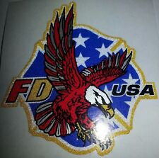"Firefighter Decal, Gold Coburn Vinyl, Eagle FD USA 2"" wide  #FD117"