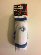 Franklin Blue White Xs Shinguards Up To 4' Built In Plastic Shell New Boys Girls