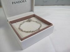 New w/Gift Set Pandora 6.7 inch Capture 5 Clip Station Bracelet #591704 17 CM