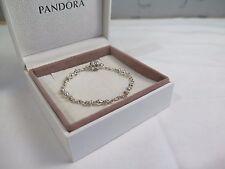 New w/Gift Set Pandora 7.5 inch Capture 5 Clip Station Bracelet #591704 19 CM