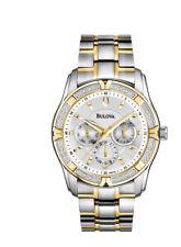 Bulova Men's 98E112 Quartz Diamond Accents Two Tone Bracelet 42mm Watch