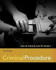 Criminal Procedure, Scheb, II  John M., Scheb, John M., Very Good Book