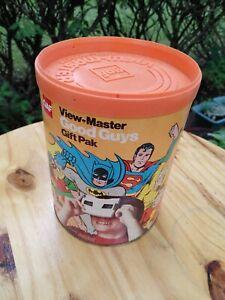 Vintage super hero gaf good guys viewmaster Gift pack box superman wonder woman