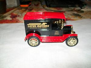 """ERTL #3603 """" Latus Motors Harley #1"""" 1913 Model """"T"""" Delivery Die Cast Bank 1/25"""