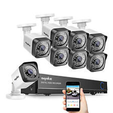 SANNCE 8CH 1080P HDMI DVR 1500TVL In/Out Day Night Vision Security Camera System