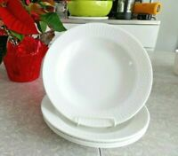 "MACY'S MARTHA STEWART COLLECTION (4) PC.BASKET WEAVE 9 1/4"" RIMMED SOUP BOWL SET"