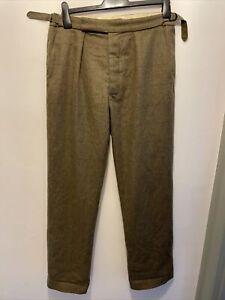 Cordings Tweed Wool Trousers Size 34 Read Description