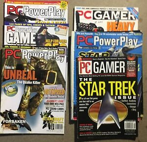 7 PC GAMER & PC POWERPLAY MAGAZINES vintage
