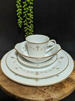 Vtg (5 piece) Noritake Courtney #6520 Dinner Setting For 1 Japan Porcelain