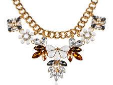 Roya Golden Tone Multicoloured Bead Rhinestone Accented Necklace Clr