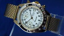 Rare Zeno Hand Wound Chronograph Watch Valjoux 7760 Watch NOS 1980S NEW