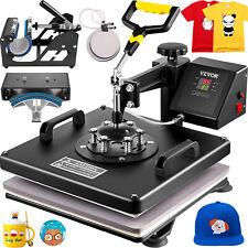 5 In1 Heat Press 15x15 T Shirt Mug Plate Hat Transfer Sublimation Machine