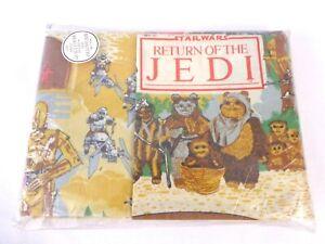 Vintage Star Wars ROTJ 1980s Single Duvet Set Pillow Case New Sealed Rare
