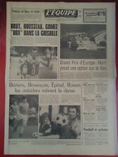 journal  l'équipe 30/08/76 FORMULE 1 HUNT BOXBERGER BARATELLI SIX
