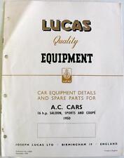 LUCAS AC auto automobili Electrics attrezzature & pezzi di ricambio Sep 1950 #CE681