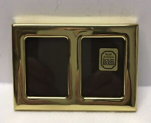 SOLID BRASS DOUBLE MINI PHOTO FRAME from the Solid Brass Range (489)