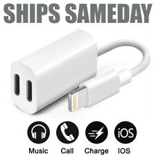 Dual Adapter for iPhone 2 in 1 Headphone & Charger for Apple iPhone 7 8 X XR 11