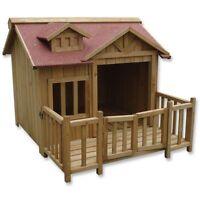 Caseta XL de madera maciza - Casa para perro - 93.5 x 99 x 78mm