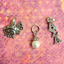 Alpha Sigma Alpha Greek Sorority Charms (lavaliere,ladybug,pearl) FREE SHIPPING