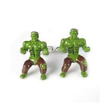 Stylish Men's Green The Hulk Angry Superhero Cufflinks for Wedding Party