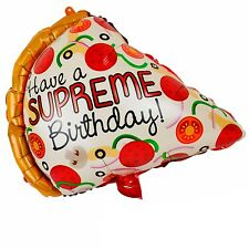 Supreme birthday balloon - super happy birthday pizza party fete balloons balon